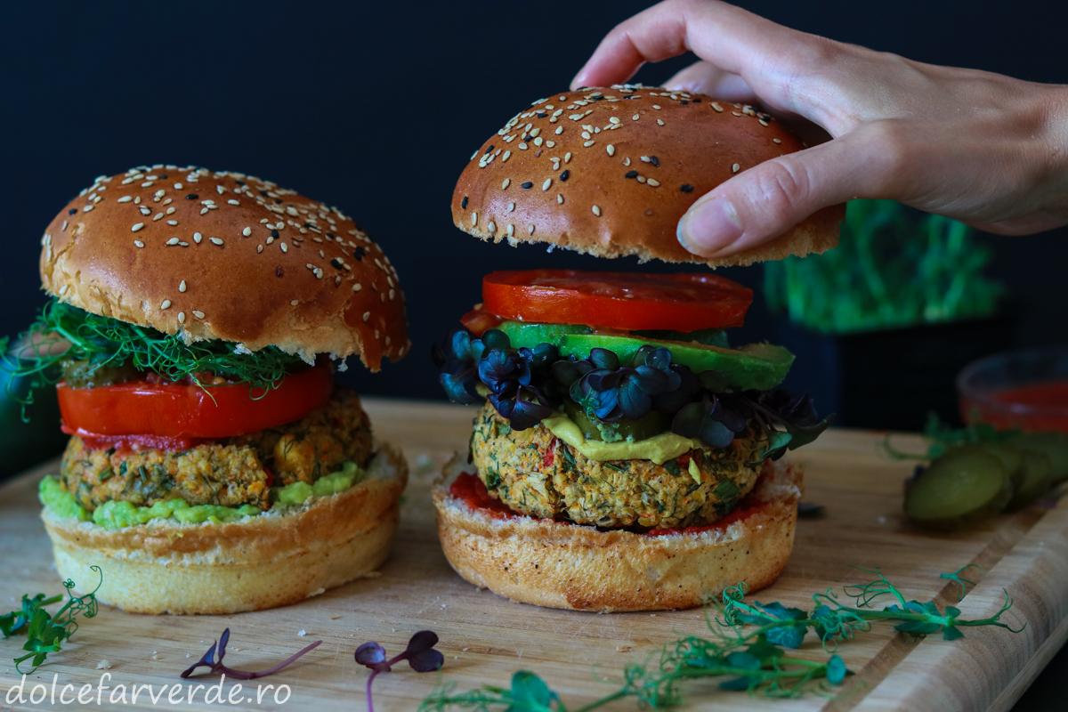 Burger Vegan din naut